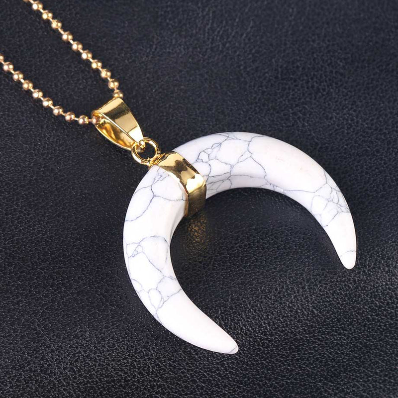 Crystal Moon Crescent - Crystal Pendant Necklace