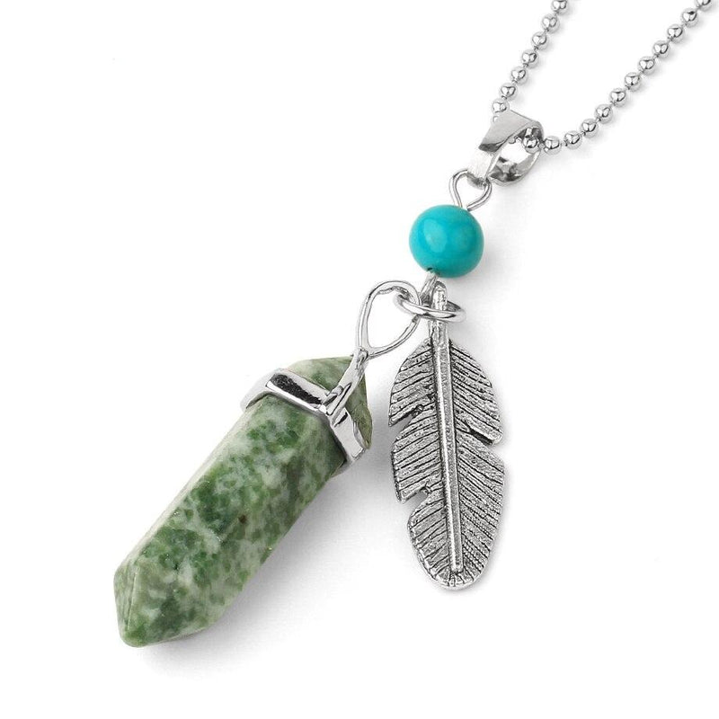Feather Shard - Charm Crystal Necklace