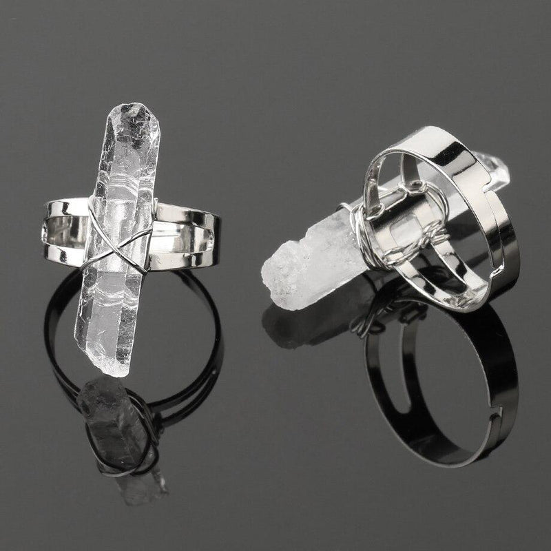 Crystal Rock Ring - Crystal Ring