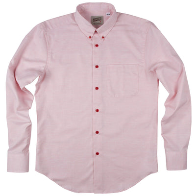 NAKED AND FAMOUS // REAL FRUIT DYED OXFORD STRAWBERRY SHIRT  | HAUTS / TOPS at LOWELL MTL