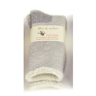 THERMAL SOCKS PALE MOTTLED GREY