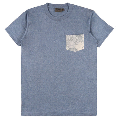 POCKET TEE TROPICAL LEAVES