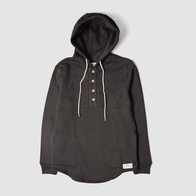 MUTTONHEAD // CAMPING HOODIE BLACK | SWEATERS at LOWELL MTL