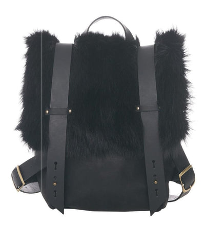 LOWELL // AMSTERDAM RECYCLED FUR BLACK DYED RACOON | FUR BAGS at LOWELL MTL