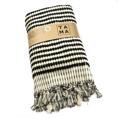 TAMA TOWELS // CHECKER TOWEL BLACK CHECKER | HOME at LOWELL MTL