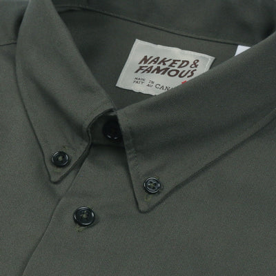 NAKED AND FAMOUS // REGULAR SHIRT ARMY OXFORD  | SHIRTS at LOWELL MTL