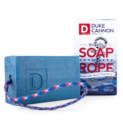 BIG ASS SOAP ON A ROPE - SMELLS LIKE NAVAL SUPREMACY