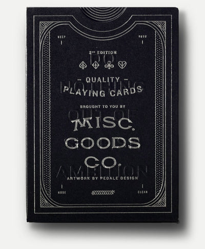 MISC. GOODS CO. // BLACK PLAYING CARDS  | JEUX / GAMES at LOWELL MTL