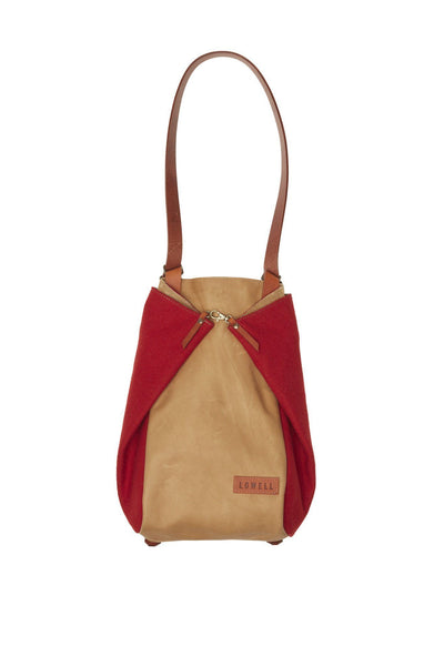 LOWELL // CASGRAIN WOOL RED | BAGS at LOWELL MTL