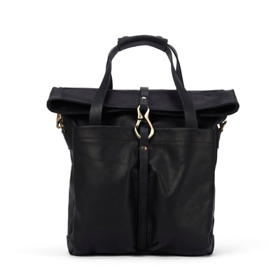 LOWELL // MANSFIELD NAPPA LEATHER BLACK | BAGS at LOWELL MTL
