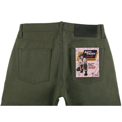ARMY GREEN DUCK SELVEDGE