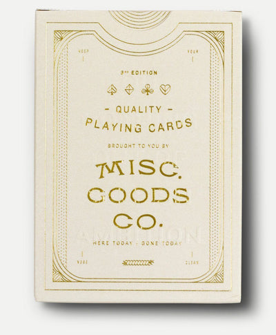 MISC. GOODS CO. // IVORY PLAYING CARDS  | JEUX / GAMES at LOWELL MTL