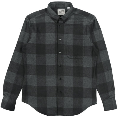 NAKED AND FAMOUS // REGULAR SHIRT DOBBY BUFFALO CHECK  | SHIRTS at LOWELL MTL