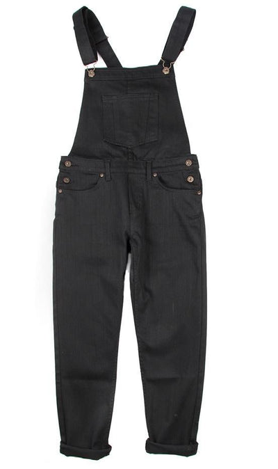 NAKED AND FAMOUS // BLACK OVERALLS TP/XS | OVERALLS at LOWELL MTL