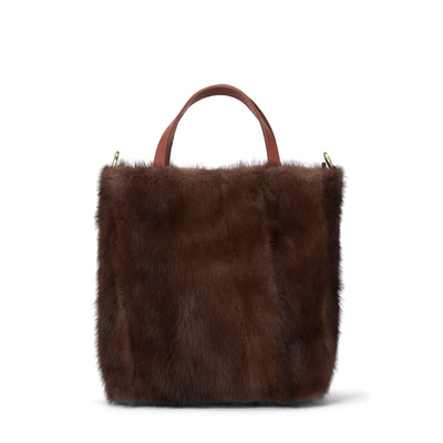 LOWELL // ATWATER VISON PETIT BROWN MINK | FUR BAGS at LOWELL MTL