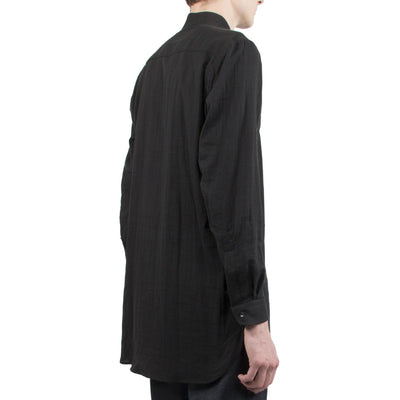 NAKED AND FAMOUS // BLACK MAO SHIRT  | CHEMISES / SHIRTS at LOWELL MTL