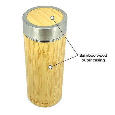 BAMBOO WOOD INSULATED DRINK BOTTLE