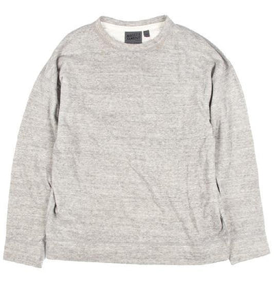 NAKED AND FAMOUS // CORE WEEKEND CREW VINTAGE DOUBLE FACE GREY | SWEATERS at LOWELL MTL