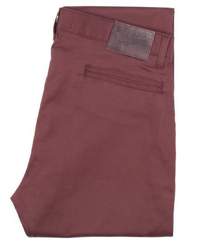 NAKED AND FAMOUS // CORE SLIM CHINO BURGUNDY | PANTS at LOWELL MTL