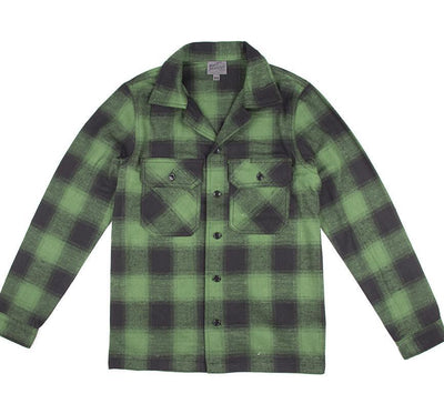 NAKED AND FAMOUS // WORKSHIRT GREEN/BLACK | SHIRTS at LOWELL MTL