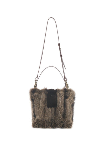 LOWELL // QUITO RECYCLED FUR RACOON | FUR BAGS at LOWELL MTL