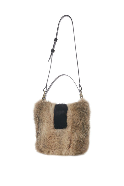 LOWELL // QUITO RECYCLED FUR COYOTE | FUR BAGS at LOWELL MTL