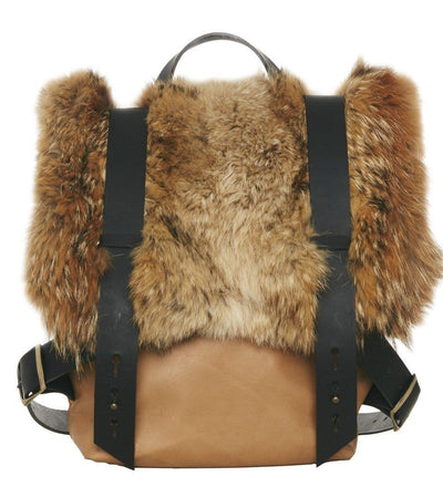 LOWELL // AMSTERDAM RECYCLED FUR COYOTE | FUR BAGS at LOWELL MTL
