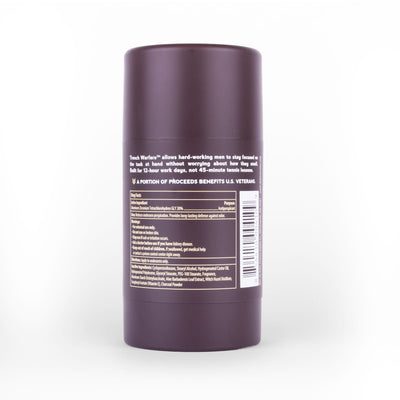 TRENCH WARFARE NATURAL CHARCOAL DEODORANT - SANDALWOOD & AMBER