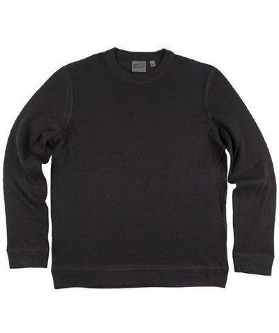 NAKED AND FAMOUS // CORE SLIM CREW BLACK | SWEATERS at LOWELL MTL
