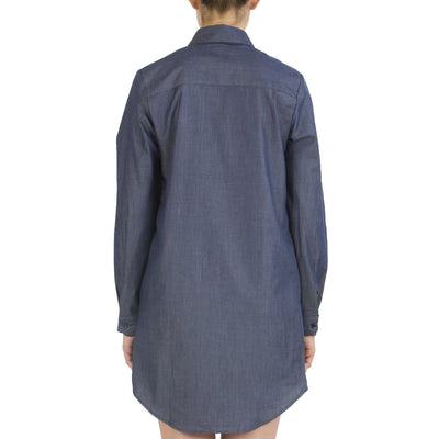 INDIGO SHIRT DRESS