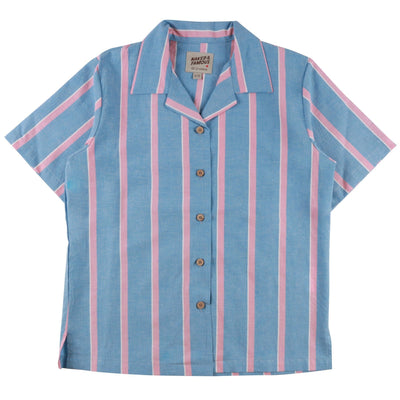 CAMP COLLAR SHIRTS CHAMBRAY SLUB