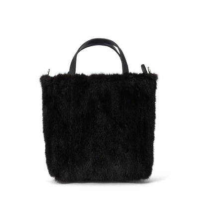 LOWELL // ATWATER VISON PETIT DARK MINK | FUR BAGS at LOWELL MTL
