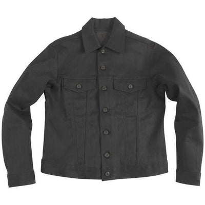 NAKED AND FAMOUS // CORE DENIM JACKET BLACK | JACKETS at LOWELL MTL