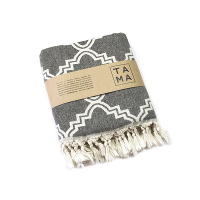 TAMA TOWELS // MOROCCON THROW CHARCOAL | HOME at LOWELL MTL