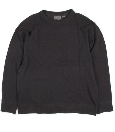 NAKED AND FAMOUS // CORE WEEKEND CREW VINTAGE DOUBLE FACE BLACK | SWEATERS at LOWELL MTL