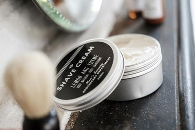 MEN'S SOCIETY // LEMON AND THYME  SHAVE CREAM  | COSMÉTIQUES / COSMETICS at LOWELL MTL