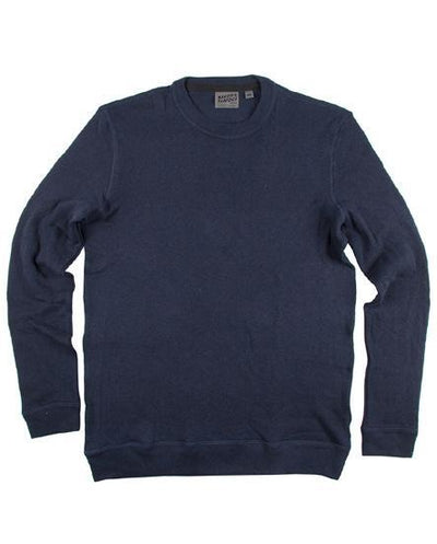 NAKED AND FAMOUS // CORE SLIM CREW SOLID NAVY | SWEATERS at LOWELL MTL