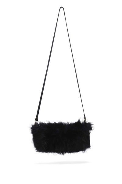 LOWELL // LABELLE FUR BLACK DYED RACOON | FUR BAGS at LOWELL MTL