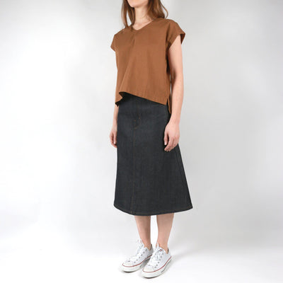 BOXY TOP RINSED OXFORD