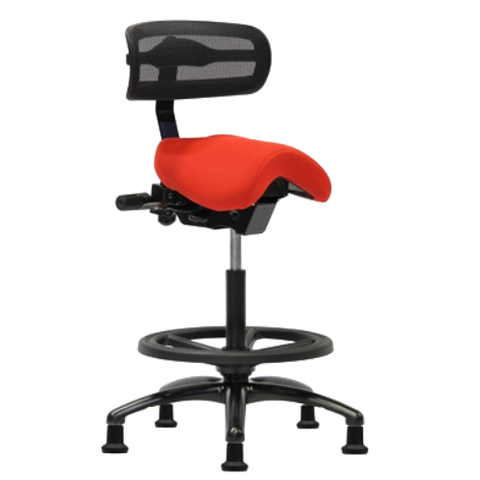 PERFORMER SERIES STUDIO STOOL WITH BACKREST