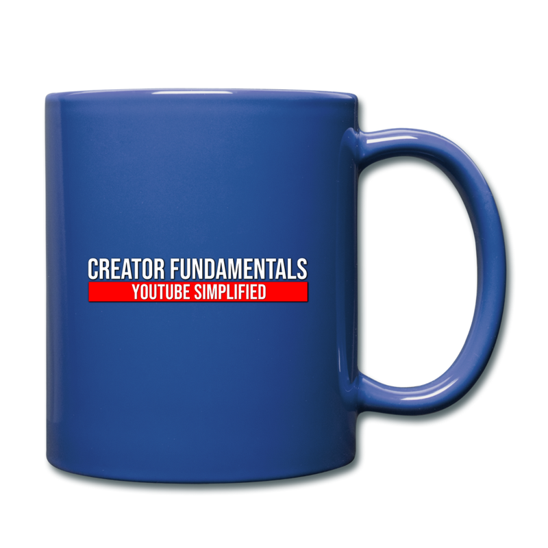 Creator Fundamentals Create Your Freedom Mug - royal blue
