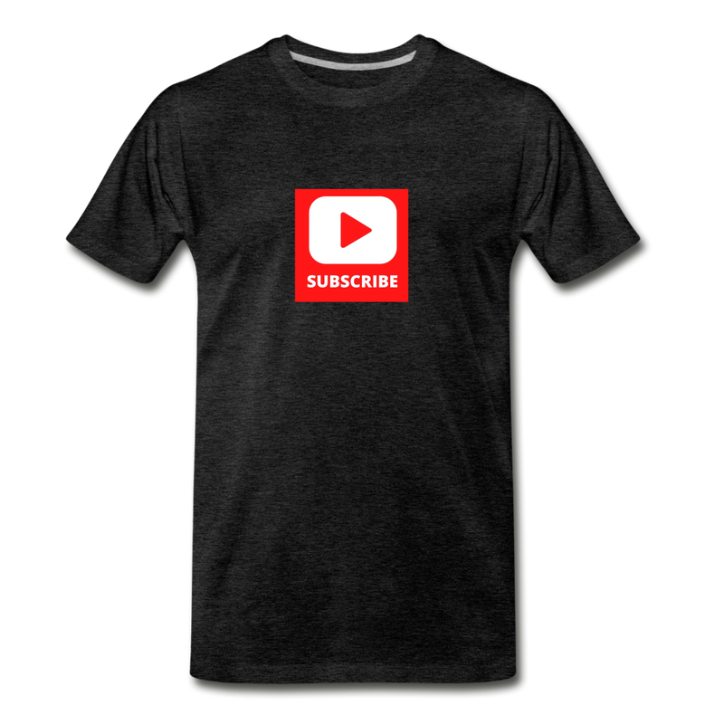 Subscribe Men's Premium T-Shirt - charcoal gray