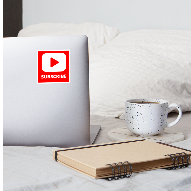 Subscribe Sticker - white matte