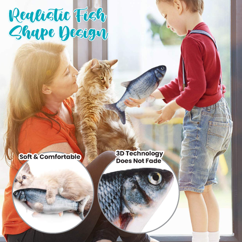 Electric Flopping Fish Toy