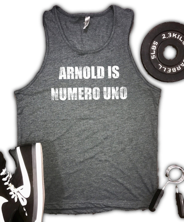 Arnold is Numero Uno Men's  Soft Blend Tank
