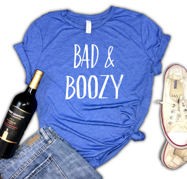 Bad and Boozy Women's Triblend Shirt