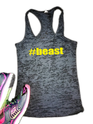 #BEAST Women's Burnout Racerback Workout Tank Top