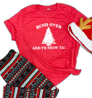 Bend Over And I'll Show Ya Unisex Relaxed Fit Soft Blend Tee