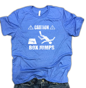 Caution Box Jumps Men's Unisex Soft Blend Shirt