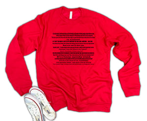 Christmas Vacation Quotes Unisex 50/50 Soft blend Fleece Sweatshirt
